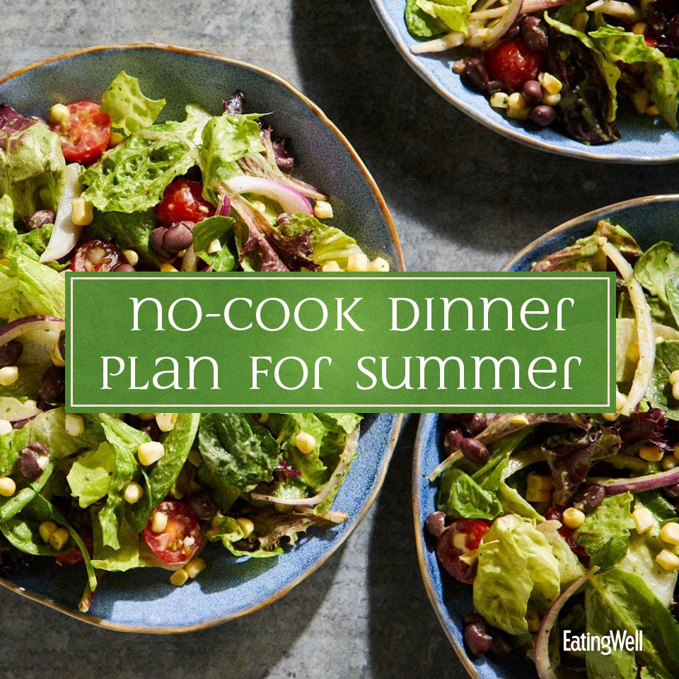 no cook summer dinner meal plan