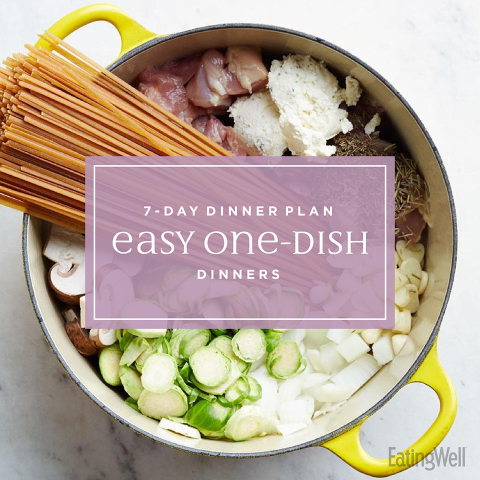 7 day dinner plan easy one-dish dinners