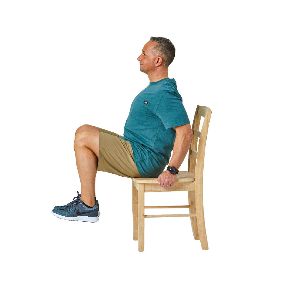 Seated Knee Lift B