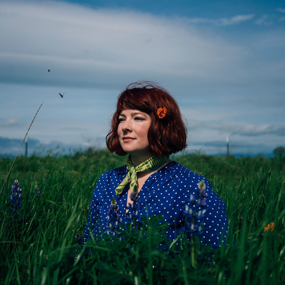 Beth Robertson-Martin in a field