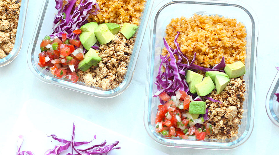 colorful healthy meals in containers