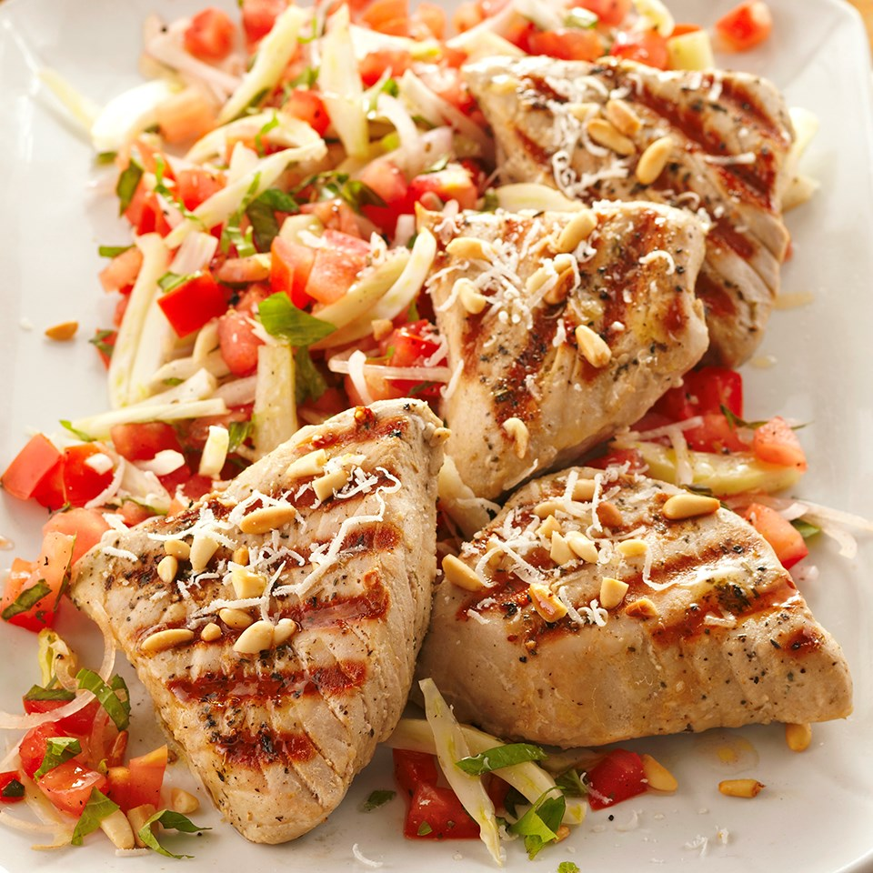 tuscan tuna with tomato salad