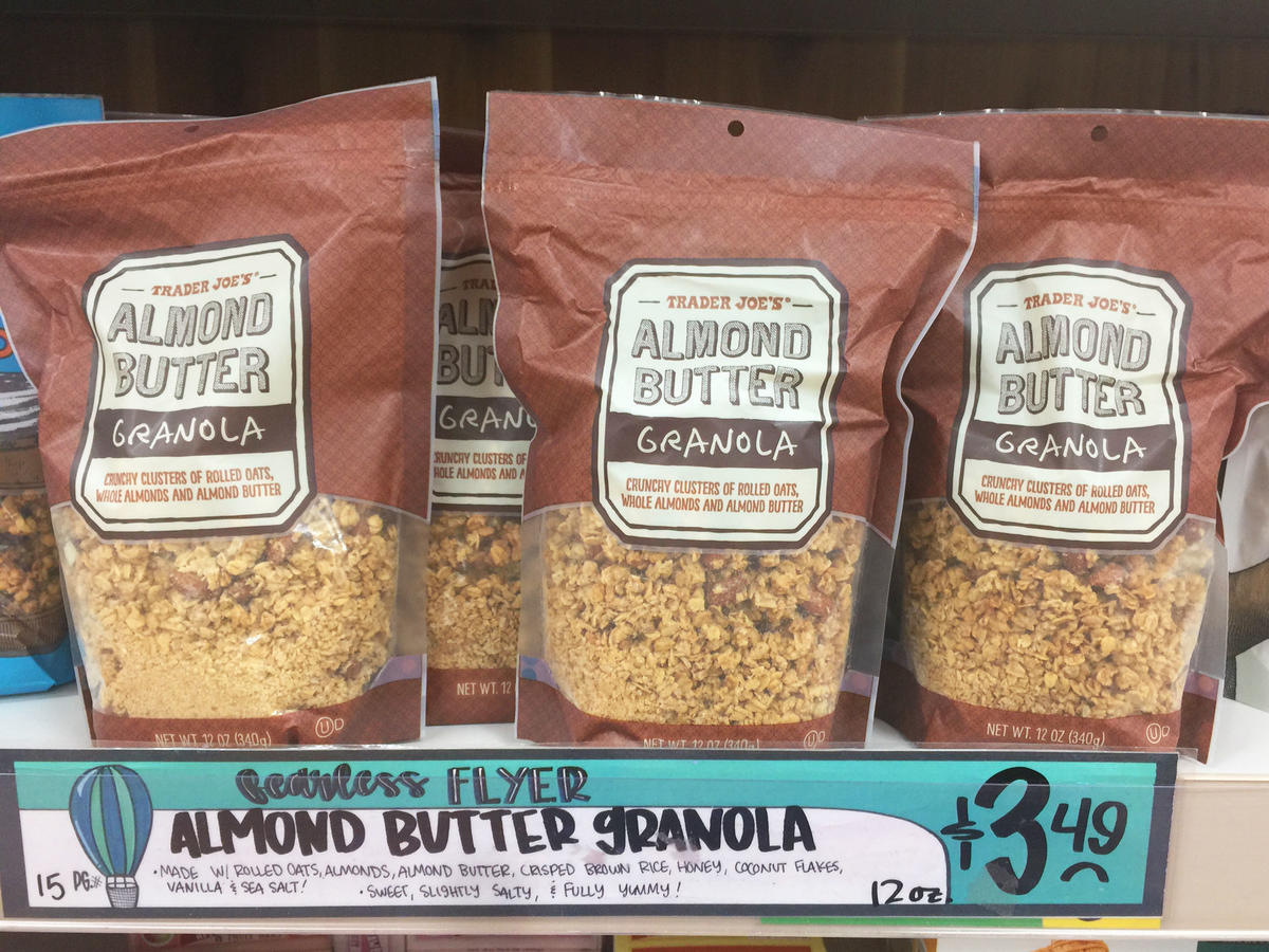 bags of almond butter granola