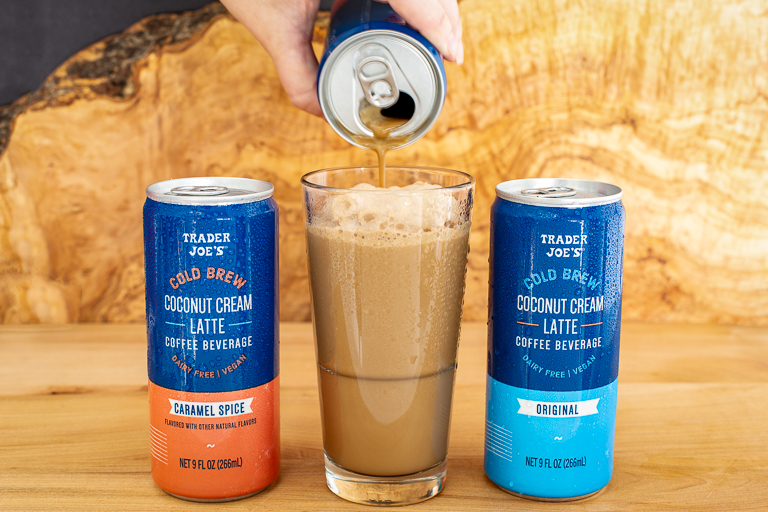 Trader Joe's cold brew - Coconut Cream Latte canned coffee drink