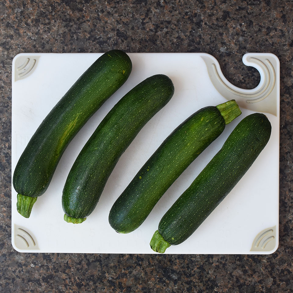 zucchinis on a cutting board