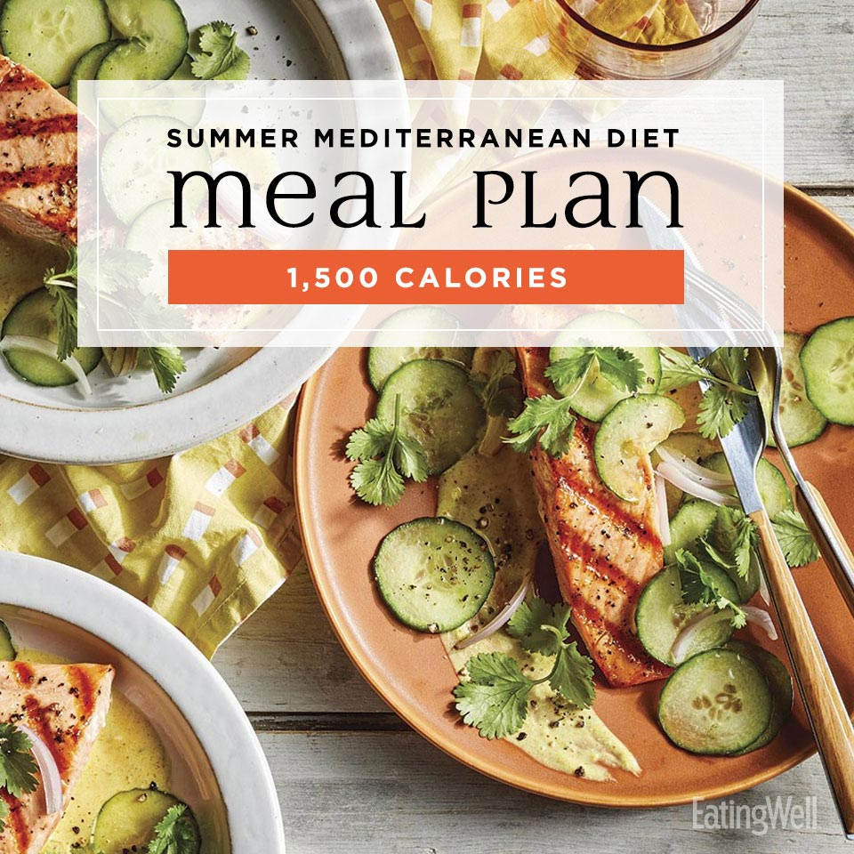 mediterranean diet meal plan for summer at 1500 calories