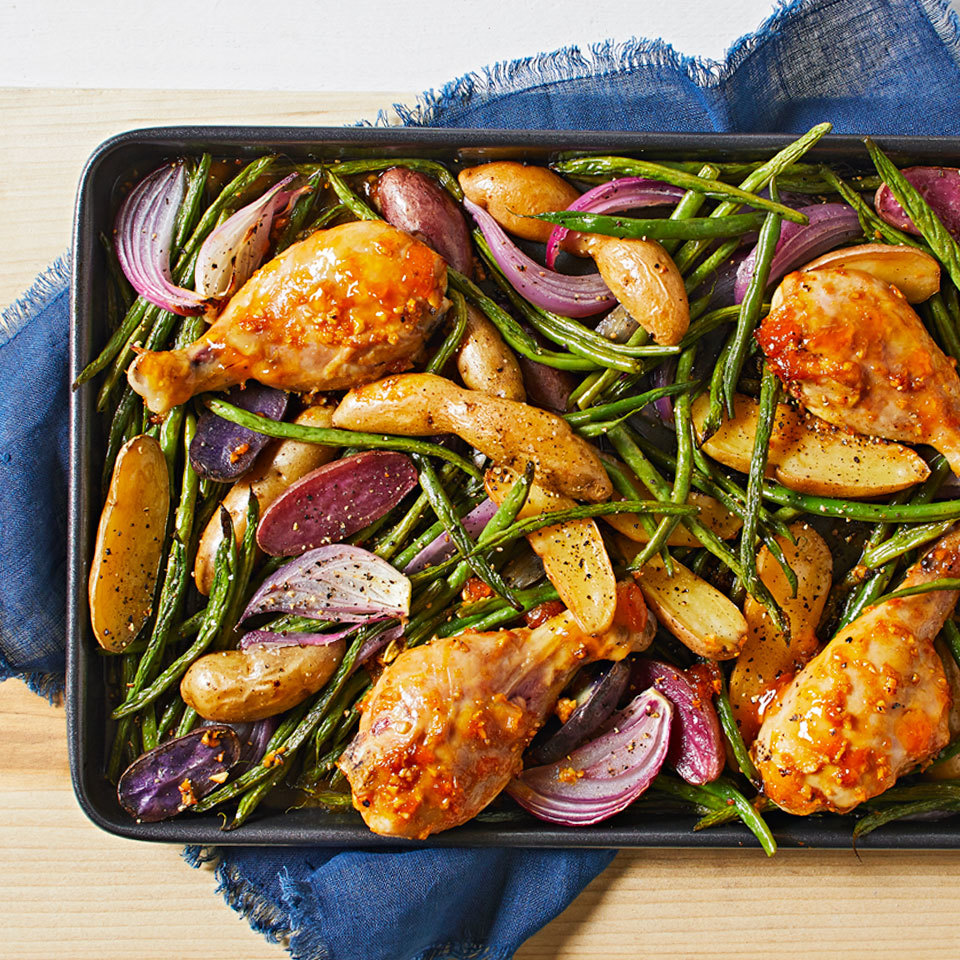 Sheet Pan Orange-Apricot Drumsticks
