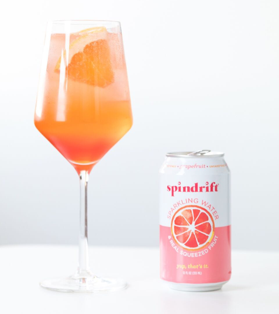 Make the Best Aperol Spritz Using Grapefruit Spindrift