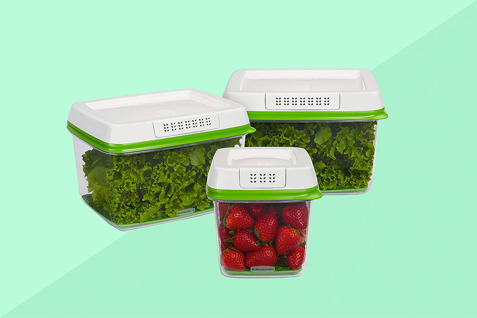 Rubbermaid produce storage containers