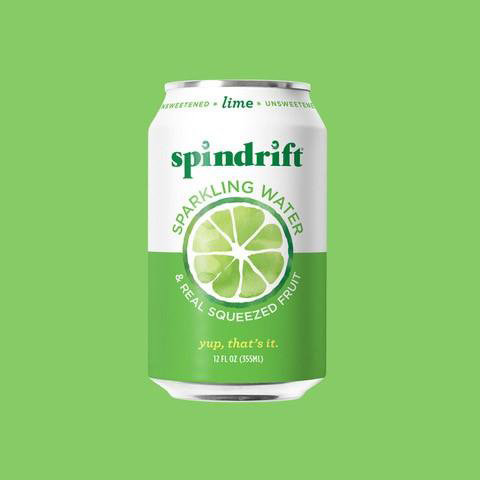 Spindrift Lime on green background