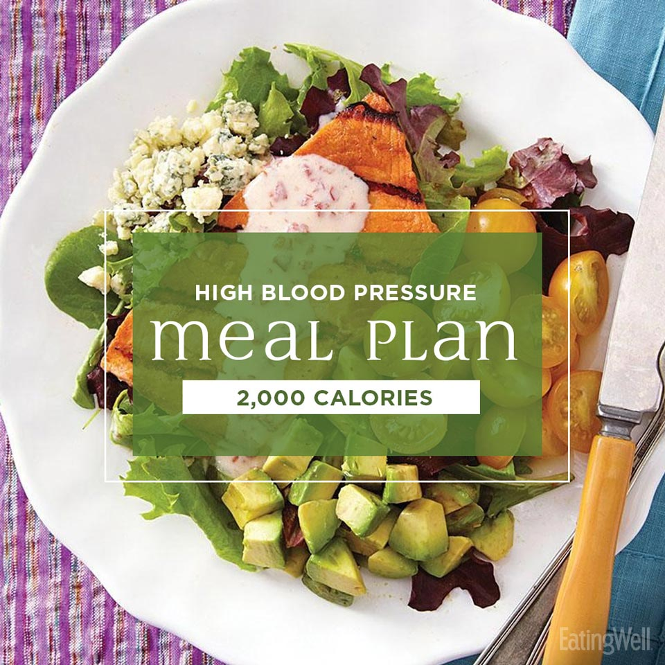 2000 calorie meal plan for blood pressure; salmon cobb salad