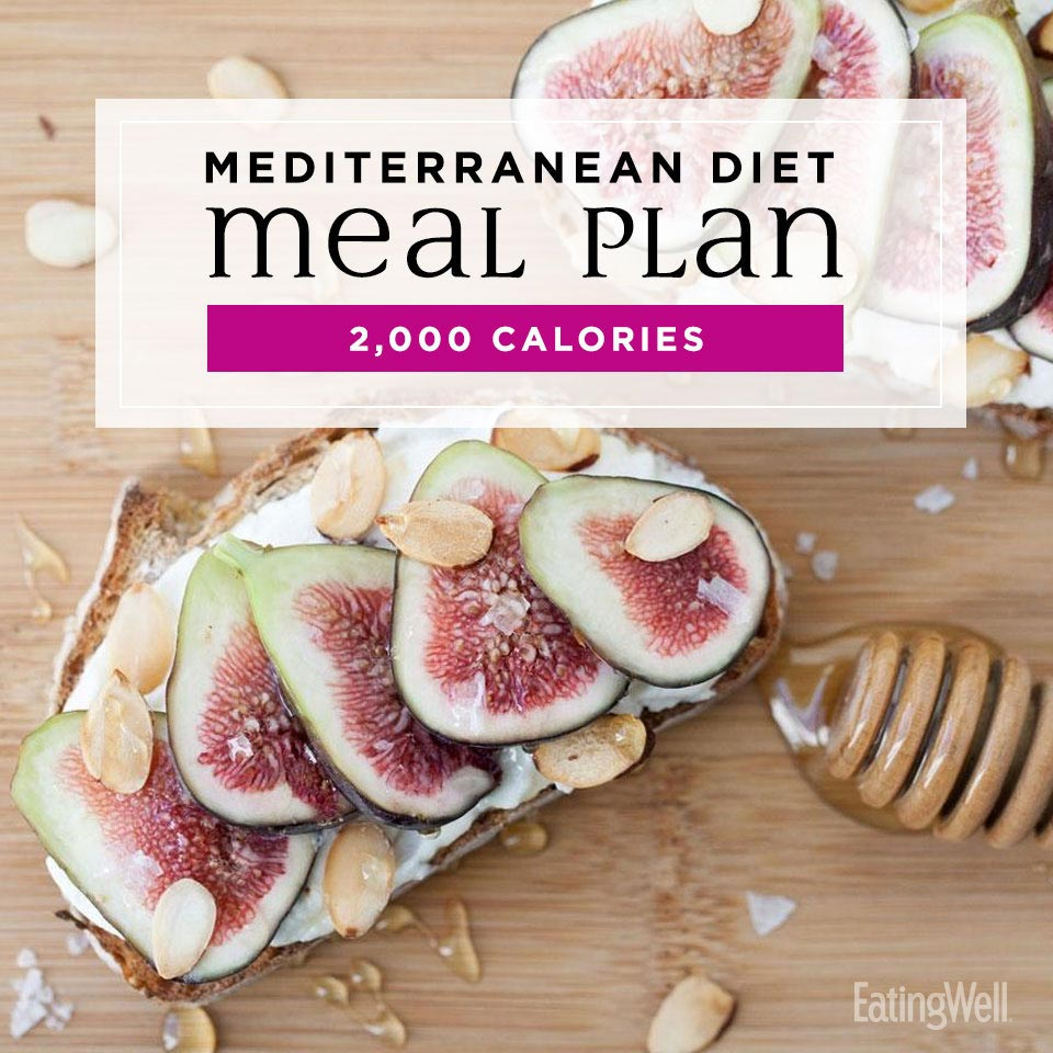 mediterranean diet meal plan at 2000 calories