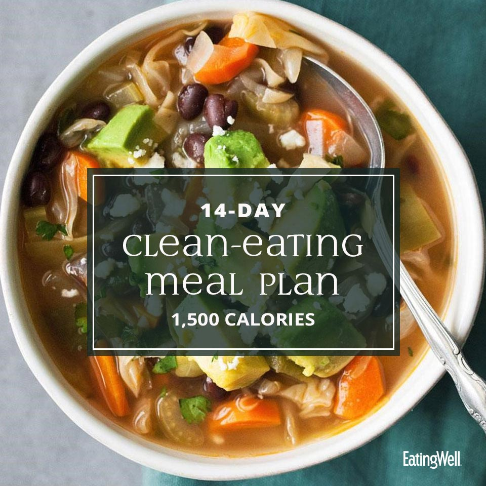 14-Day Clean-Eating Meal Plan: 1,500 Calories