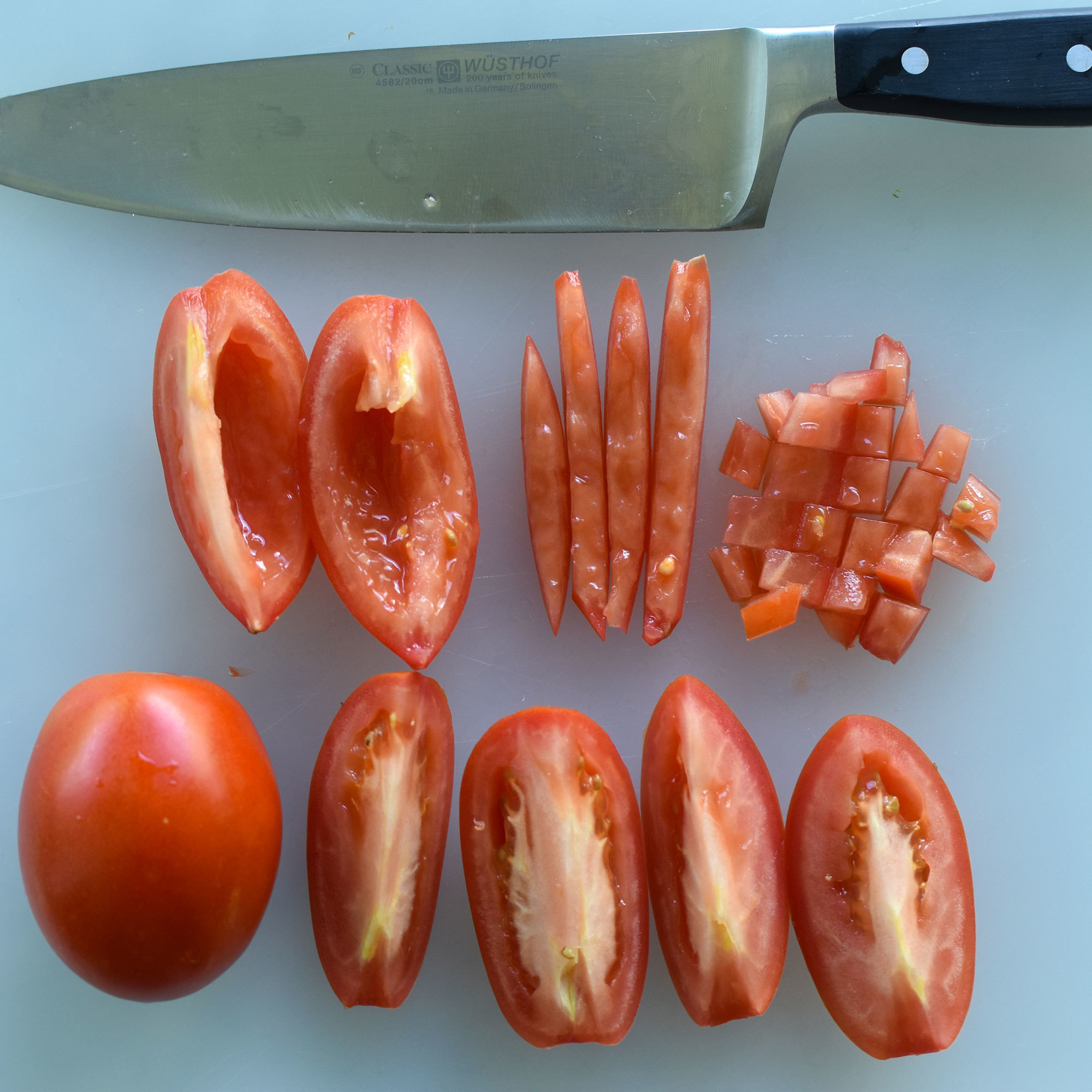Cutting Tomatoes for Ceviche