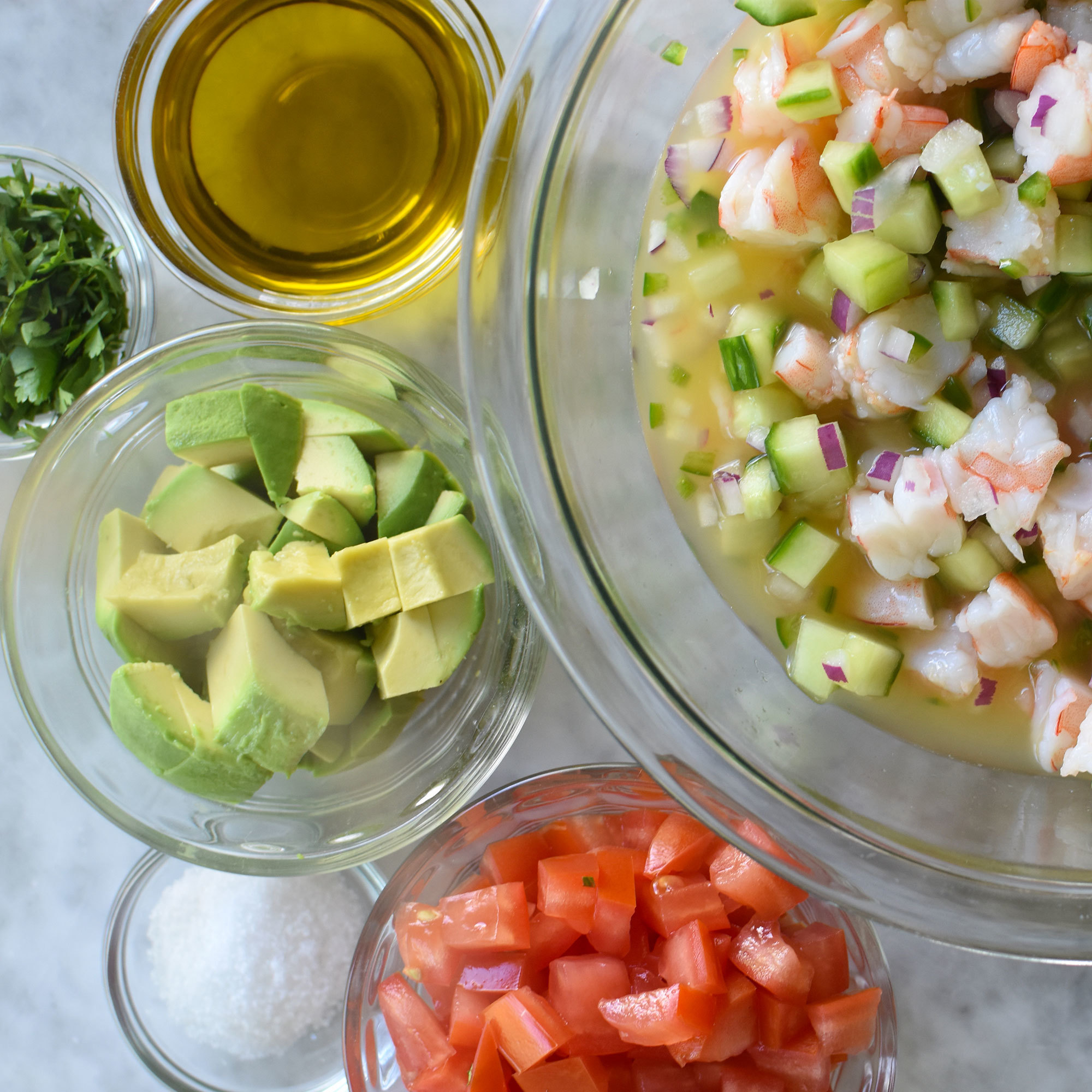 Tomatoes and Avocado for Ceviche