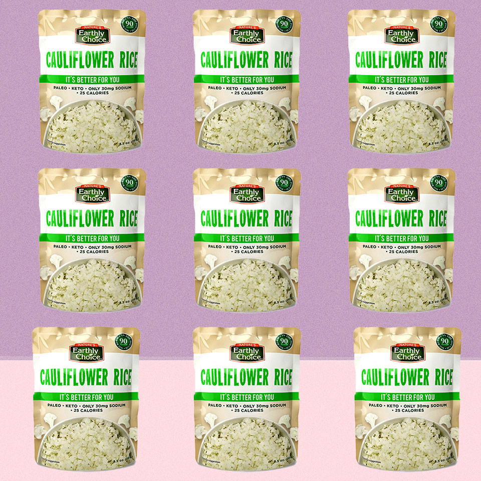 Cauliflower Rice packages at Costco
