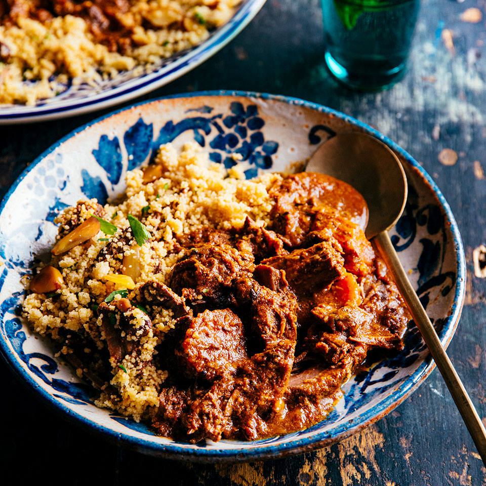 Slow-Cooker Beef & Carrot Tagine with Almond Couscous