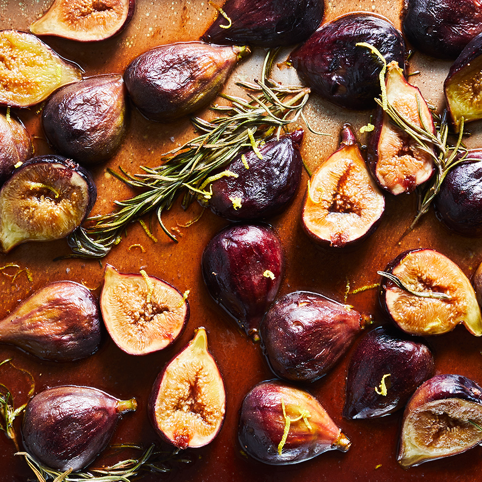Honey, Balsamic & Rosemary Roasted Figs