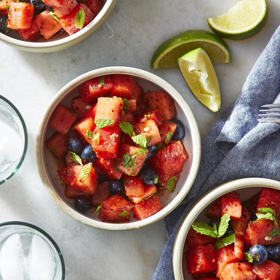 Mojito Blueberry & Watermelon Salad