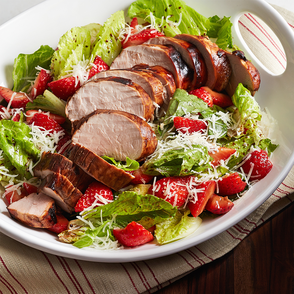 Balsamic Pork and Strawberry Salad