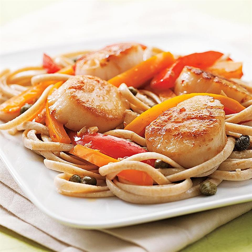 Scallop Scampi with Peppers