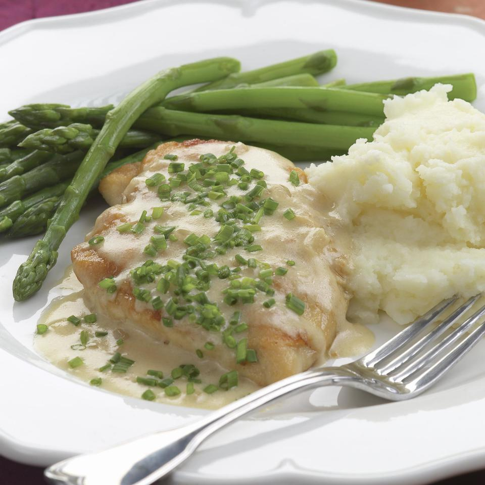 2011: Sauteed Chicken Breasts with Creamy Chive Sauce