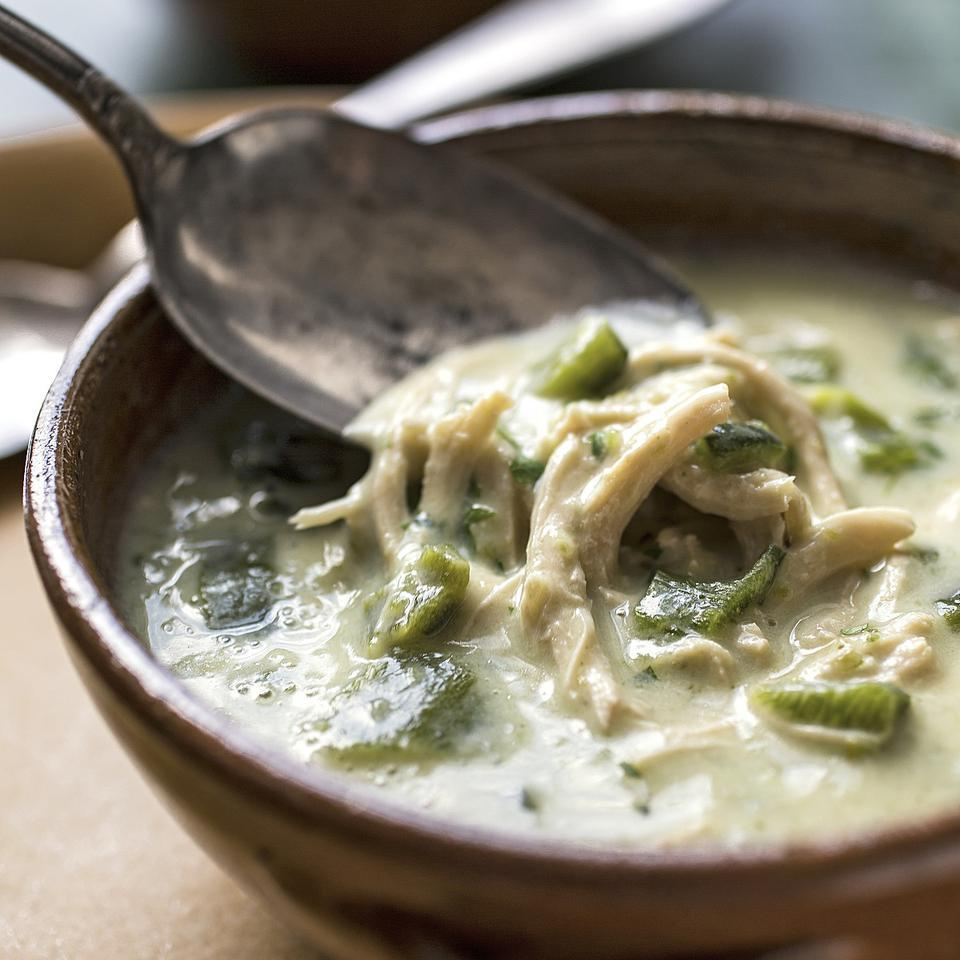 Creamy Green Chile Chicken Soup