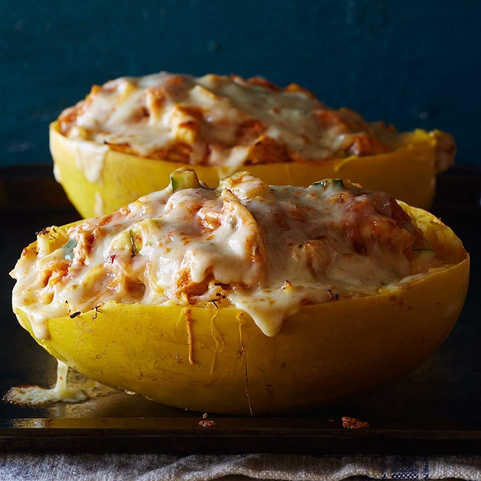 Chicken Enchilada-Stuffed Spaghetti Squash