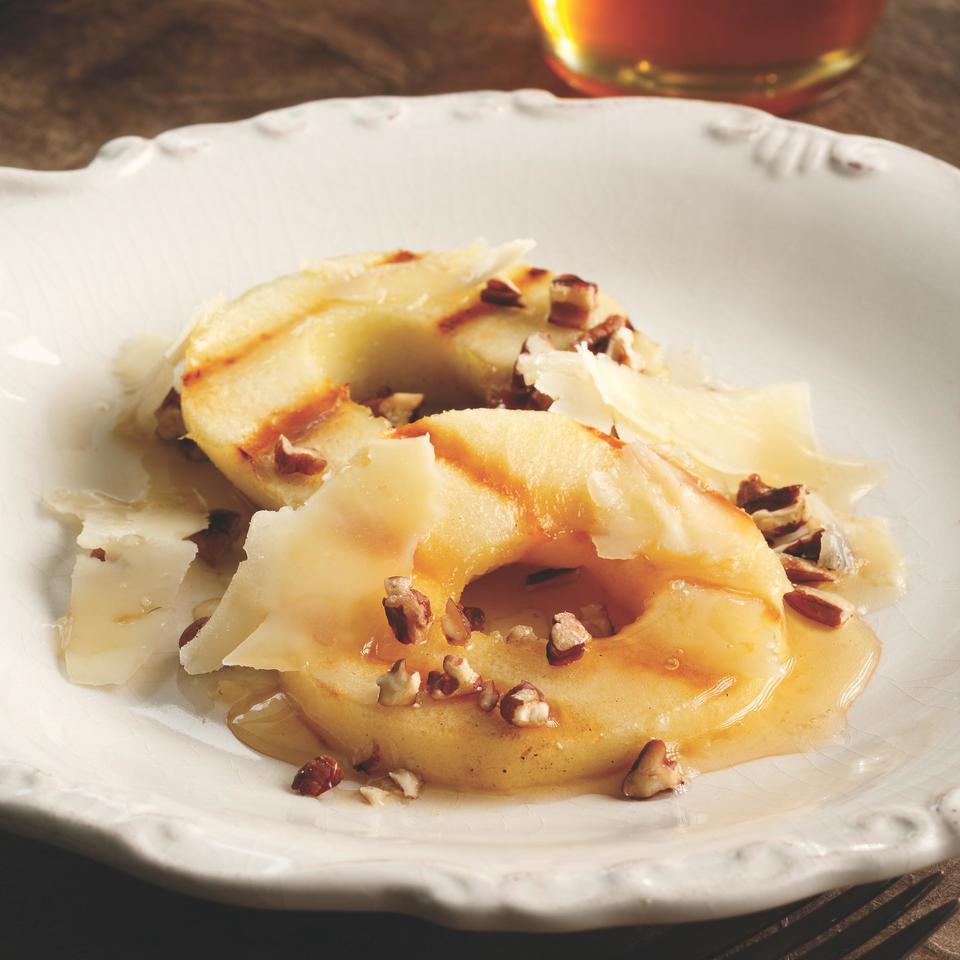 Grilled Apples with Cheese & Honey