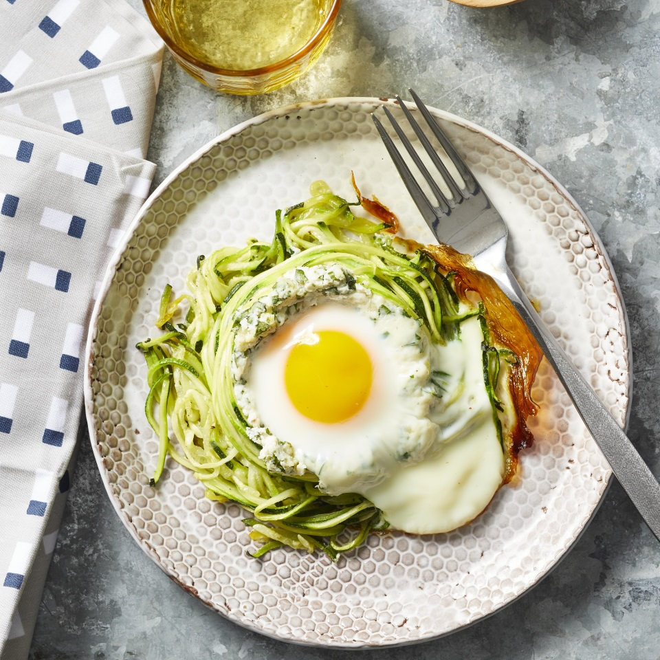 Spiralized Zucchini Nest Eggs