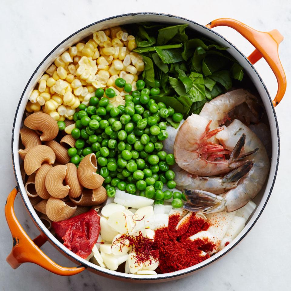 Smoky Shrimp, Corn & Pea One-Pot Pasta