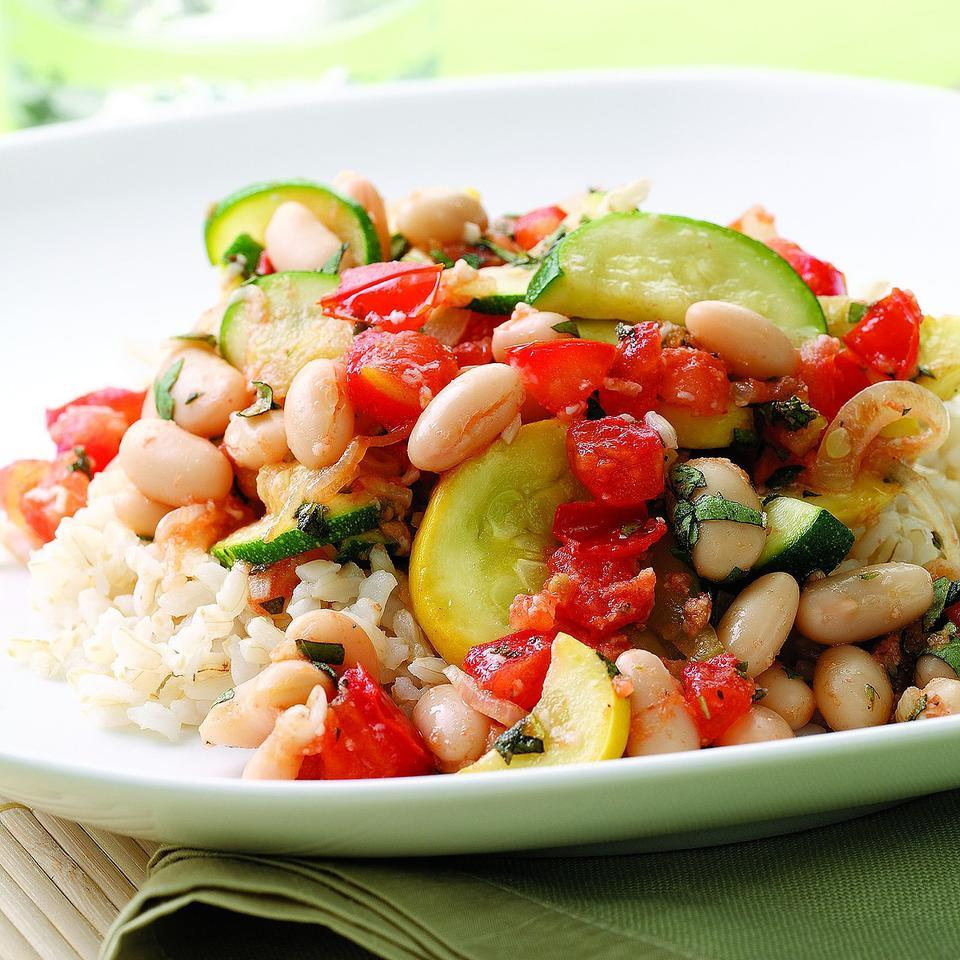 Summer Squash White Bean Saute