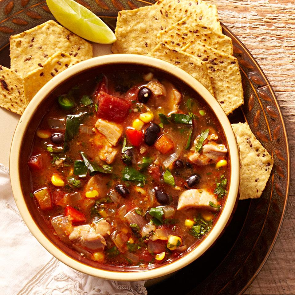 14. Southwestern Vegetable & Chicken Soup