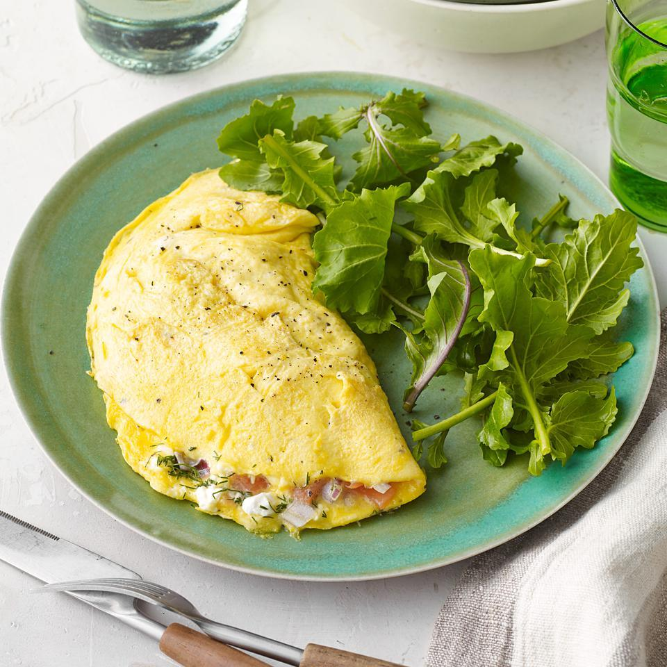 Smoked Salmon & Cream Cheese Omelet