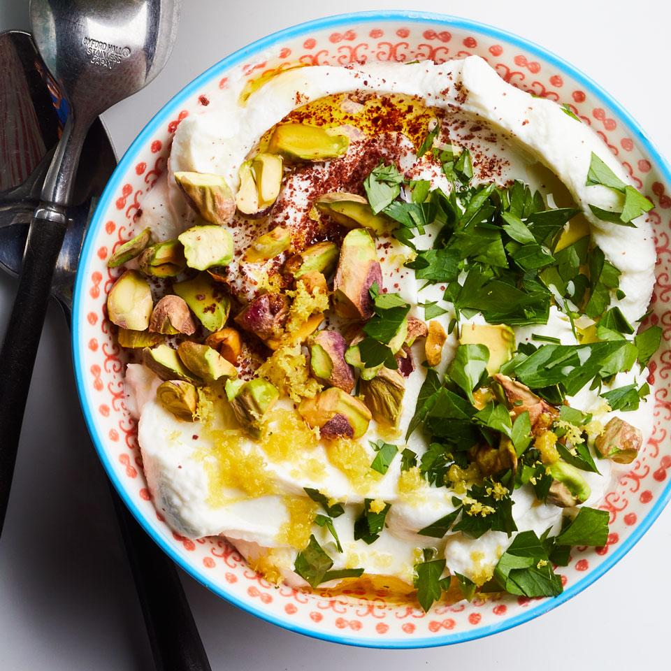 Lemony Labneh with Pistachios