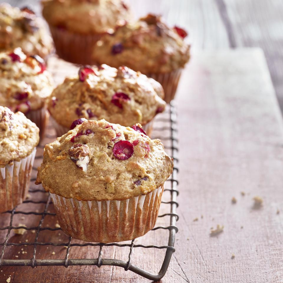 Winter Squash Muffins with Cranberries