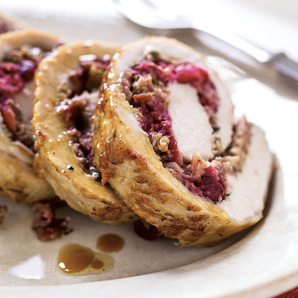 Cranberry-Rosemary Stuffed Pork Loin
