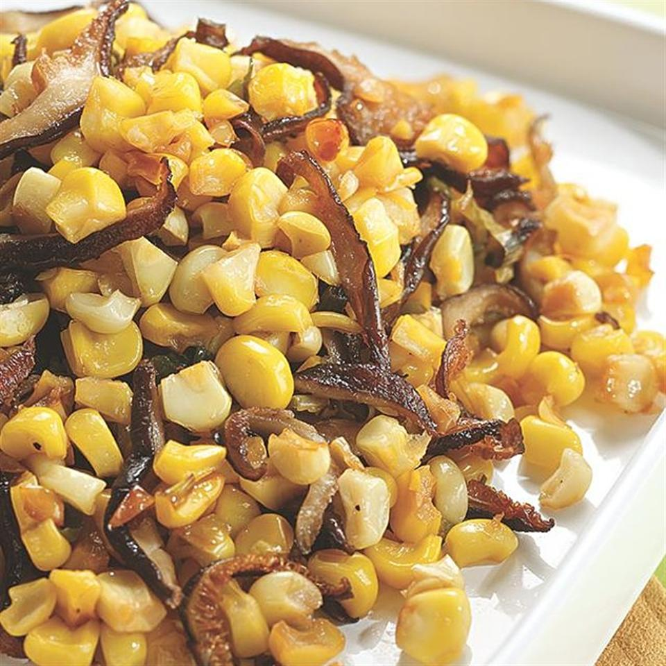 Roasted Corn & Shiitake Mushrooms