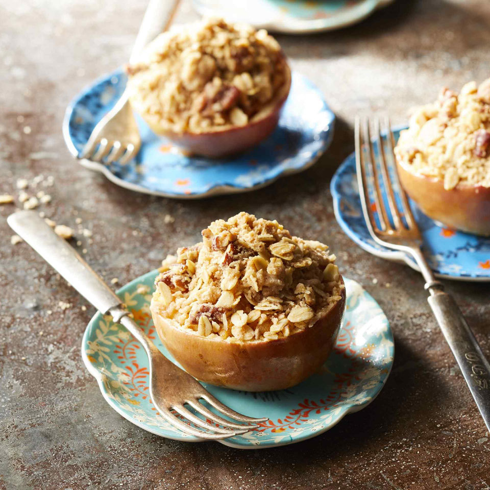 Apple-Crisp-Stuffed Baked Apples