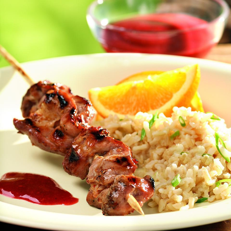 Barbecued Raspberry-Hoisin Chicken
