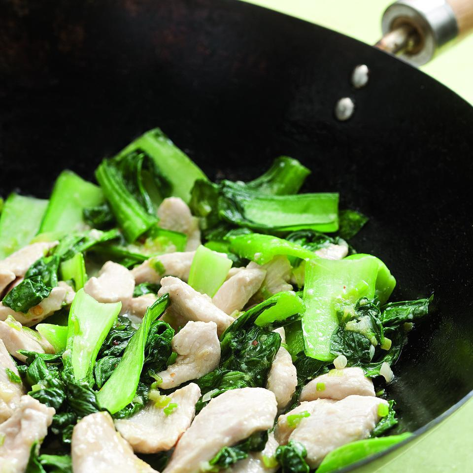 Velvet Chicken with Baby Bok Choy