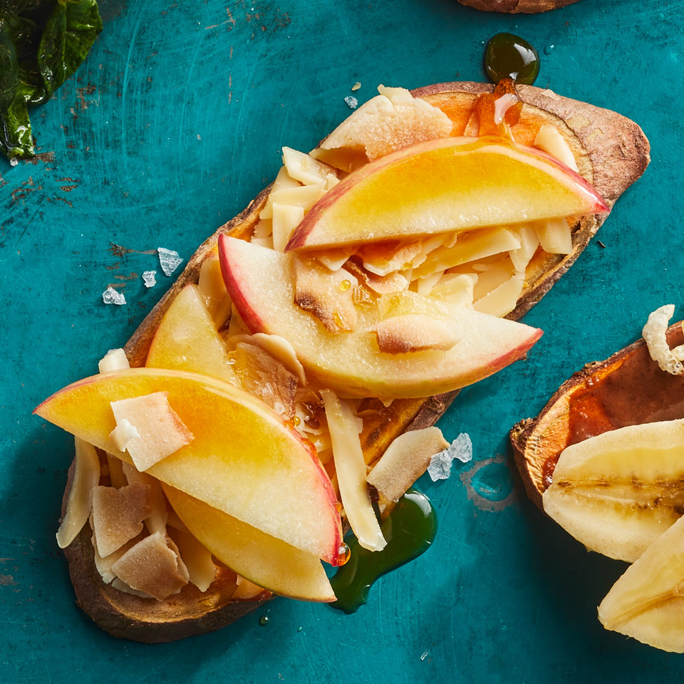 Apple & Smoked Gouda Sweet Potato Toast