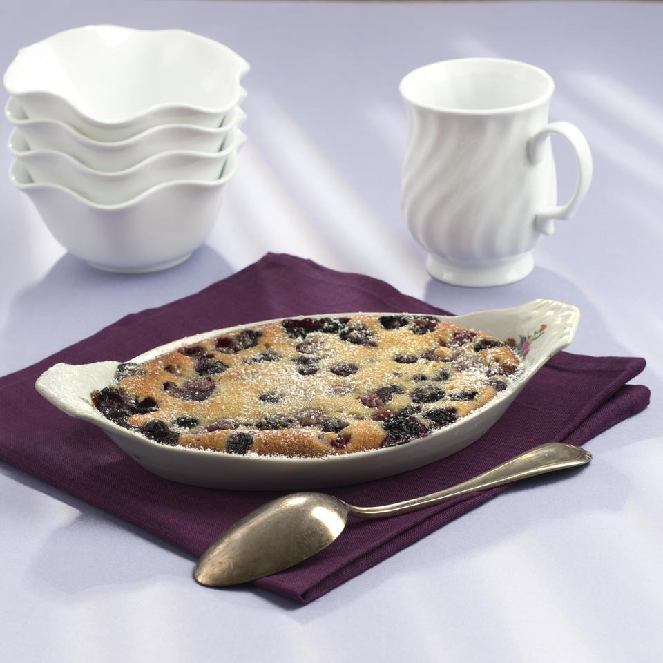 Mixed Berry-Almond Gratin
