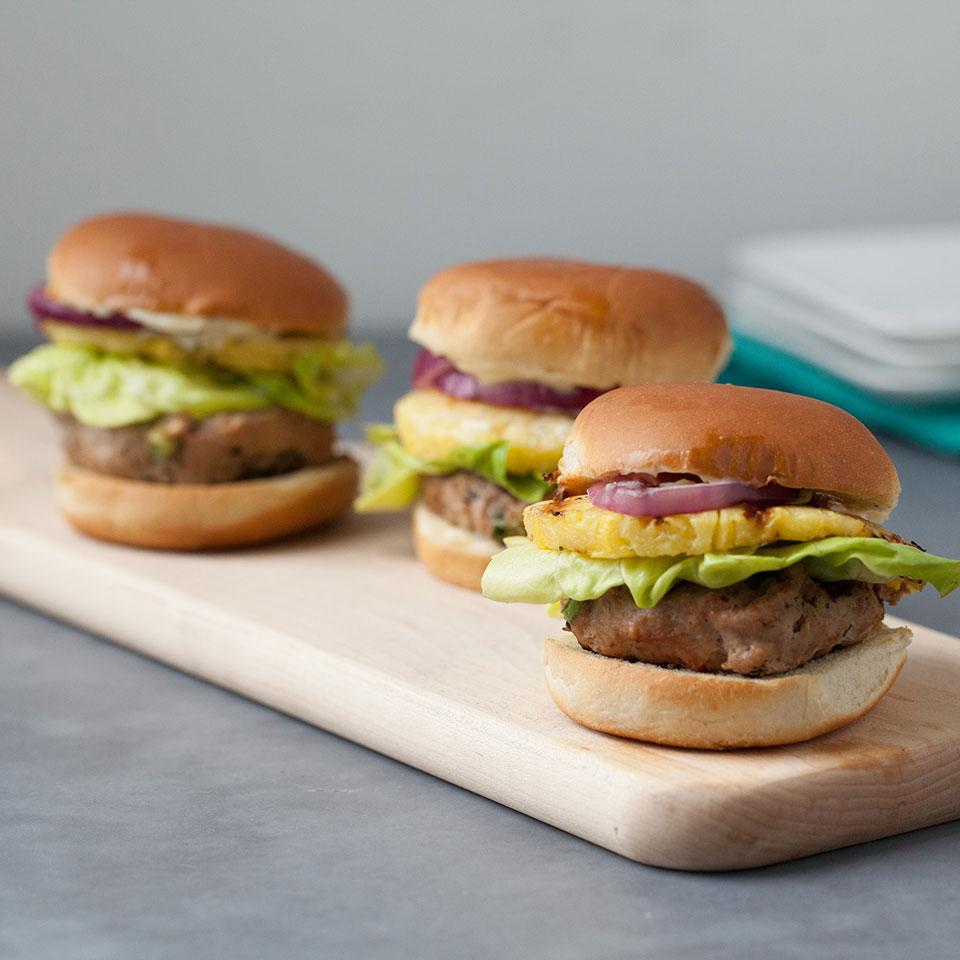 trio of sliders on a board