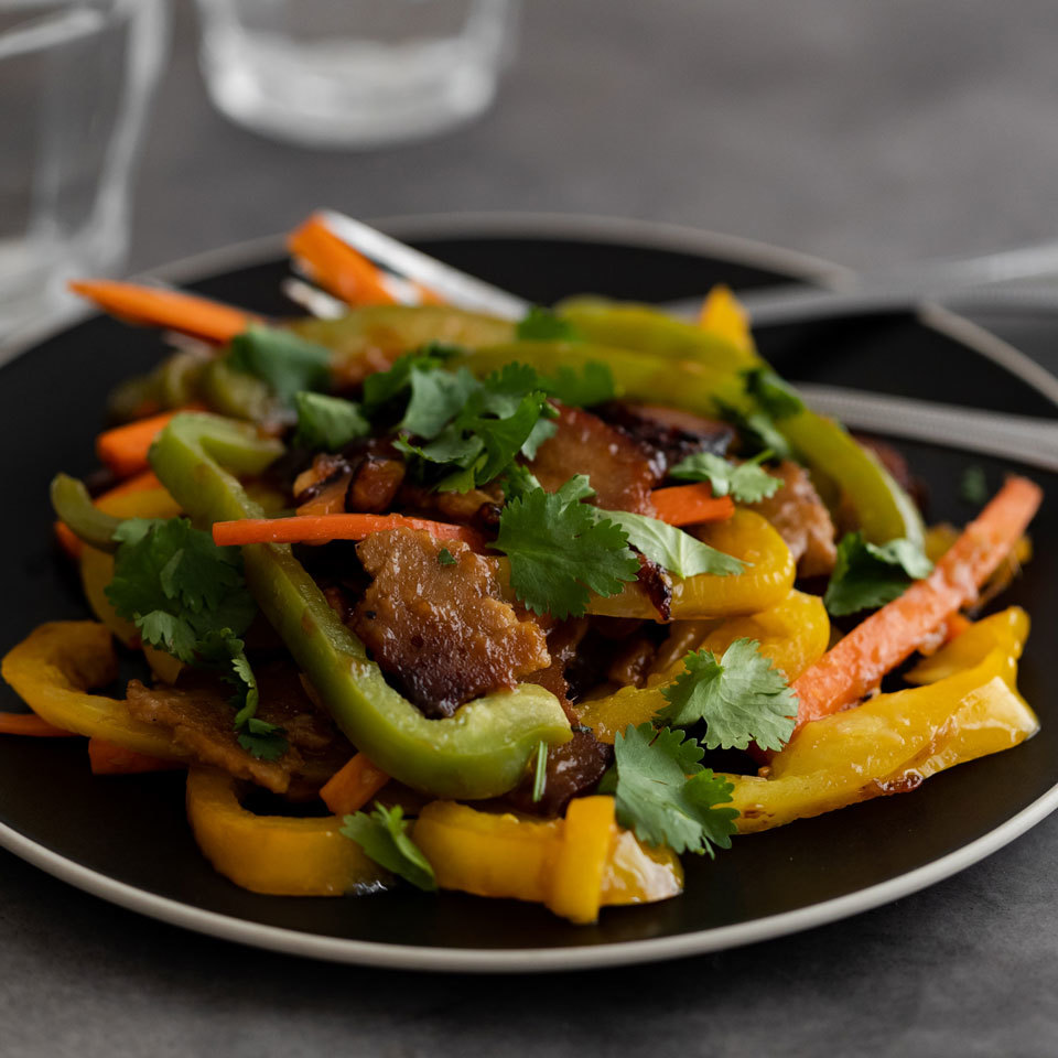 Garden-Fresh Stir-Fry with Seitan