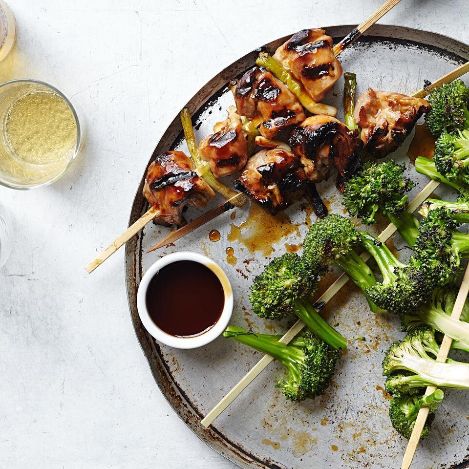 Chicken Yakitori With Broccoli Recipe Eatingwell