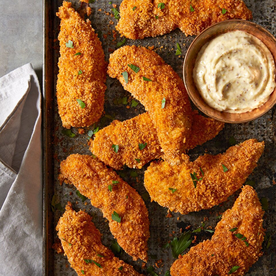 Almond Crusted Chicken Strips Recipe Eatingwell