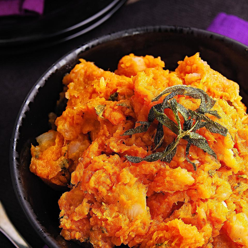 Sweet Potato & Turnip Mash with Sage Butter