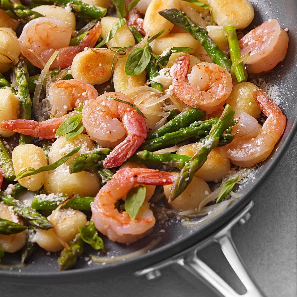 Skillet Gnocchi with Shrimp & Asparagus