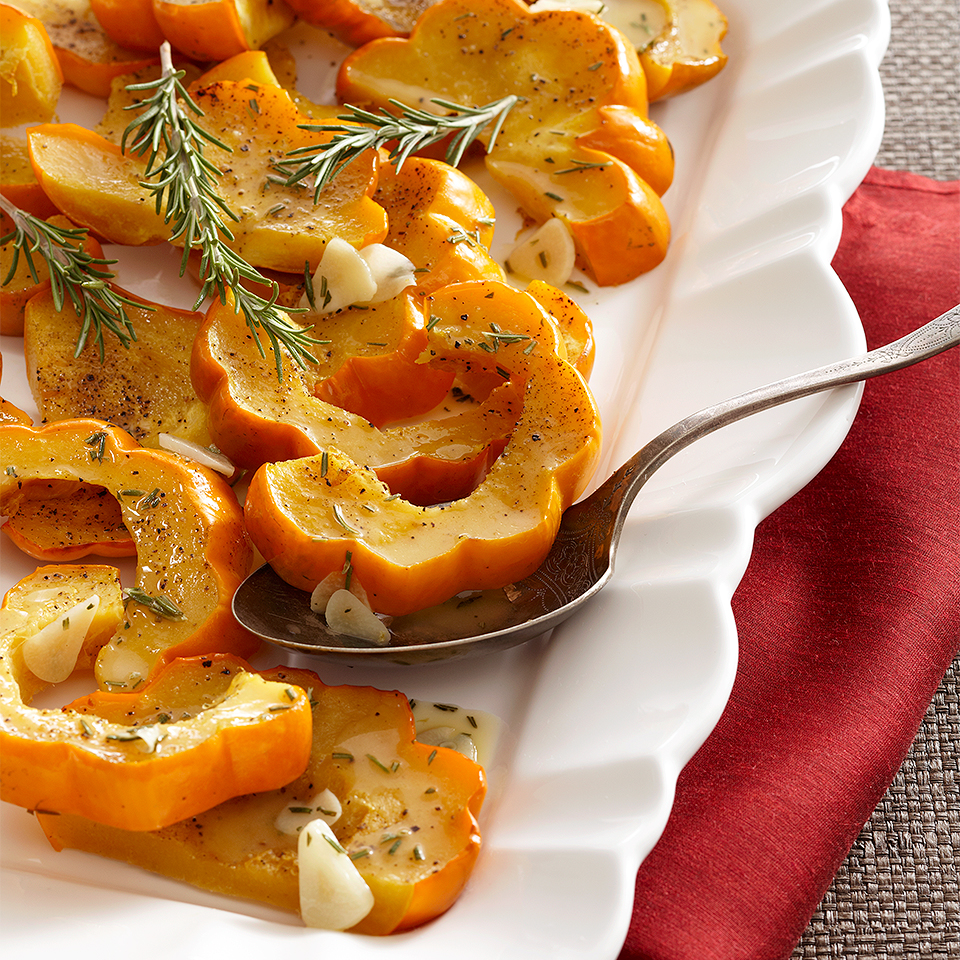 Roasted Acorn Squash with Rosemary